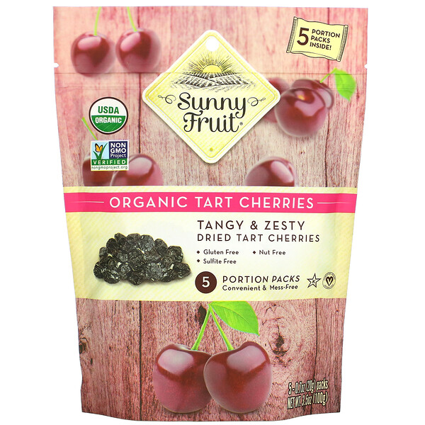 Organic Tart Cherries, 5 Portion Packs, 0.7 oz (20 g) Each
