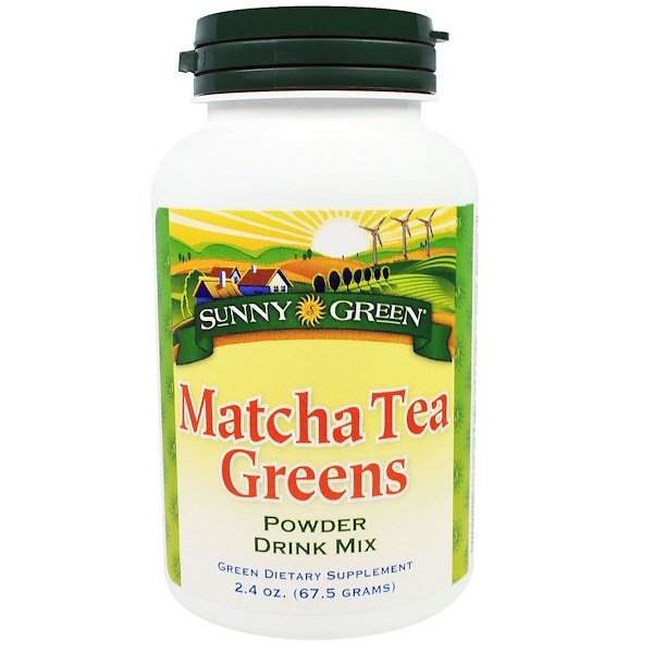 Sunny Green, Matcha Tea Greens Powder Drink Mix, 2.4 oz (67.5 g) (Discontinued Item)