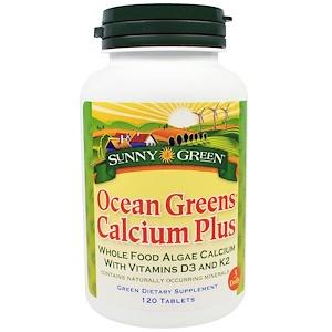 Санни Грин, Ocean Greens Calcium Plus, 120 Tablets отзывы