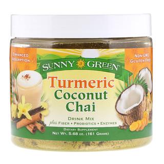 Sunny Green, Turmeric Coconut Chai Drink Mix, 5.68 oz (161 g)