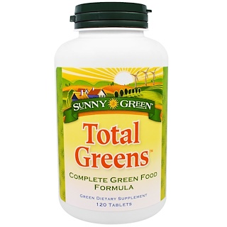Sunny Green, Total Greens, 120 Tablets