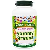 Отзывы о Sunny Green, Вкусная зелень, фруктовый пунш, 120 жевательных таблеток