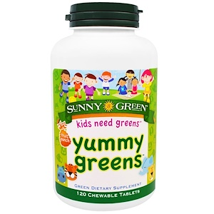 Санни Грин, Yummy Greens, Fruit Punch, 120 Chewable Tablets отзывы покупателей