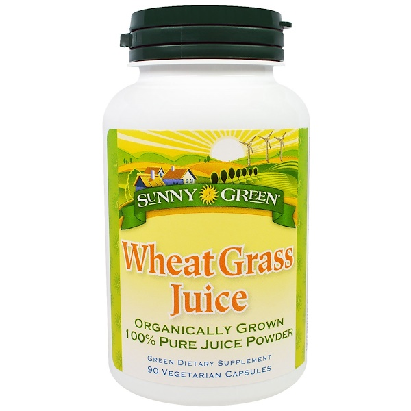 Sunny Green, Wheat Grass Juice, 90 Veggie Caps (Discontinued Item)
