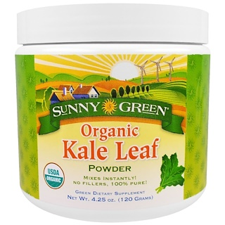 Sunny Green, Organic Kale Leaf Powder, 4.25 oz (120 g)
