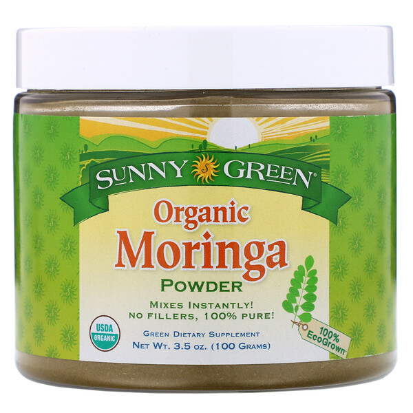 Organic Moringa Powder,  3.5 oz (100 g)