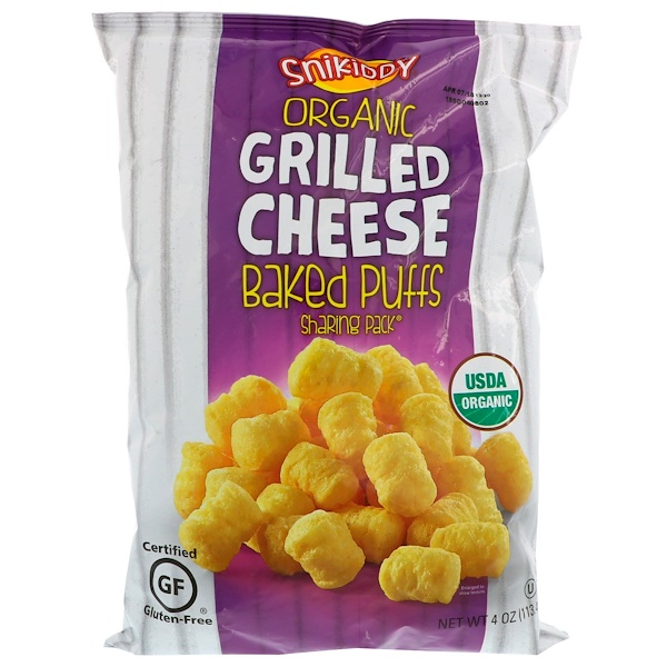 Snikiddy, Baked Corn Puffs, Grilled Cheese, 4 oz (113 g)