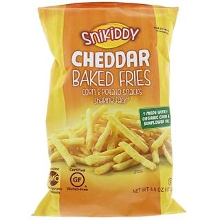 Snikiddy, Fries, Potato & Corn Snacks, Cheddar Cheese, 4.5 oz (127.6 g)