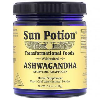 Sun Potion, Ashwagandha Powder, Wildcrafted , 3.9 oz (111 g)