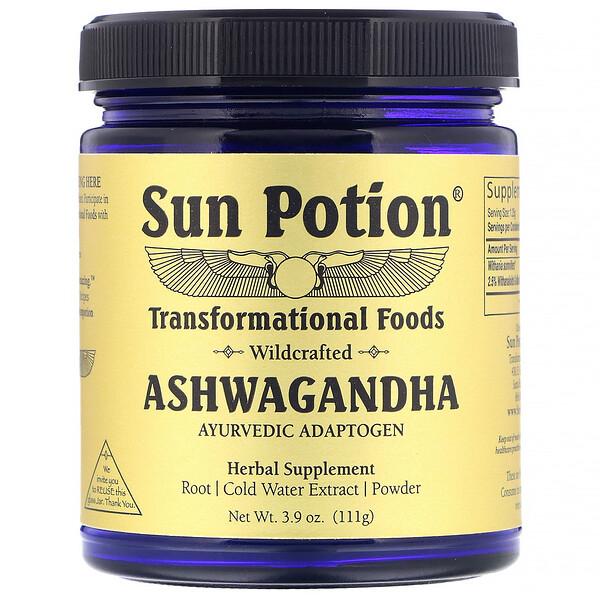 Sun Potion, Ashwagandha, de recolección silvestre, 111g(3,9oz)