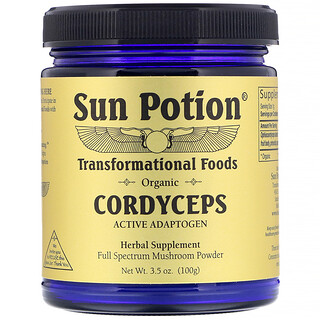 Sun Potion, مسحوق فطر اليسروع، عضوي، 3.5 أونصة (100 جم)
