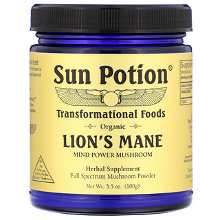 Sun Potion, Organic Lion's Mane, 3.5 oz (100 g)
