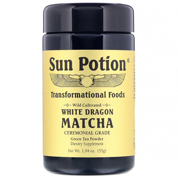 Wild Cultivated, White Dragon Matcha, Ceremonial Grade, Green Tea Powder, 1.94 oz (55 g)