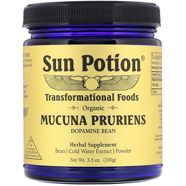Sun Potion, Organic Mucuna Pruriens Powder, 3.5 oz (100 g)
