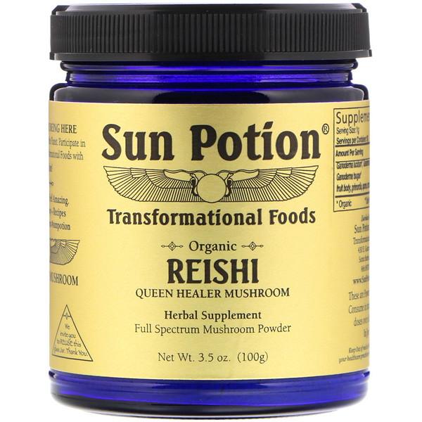 Sun Potion, Органический порошок рейши, 3,5 унц. (100 г) (Discontinued Item)