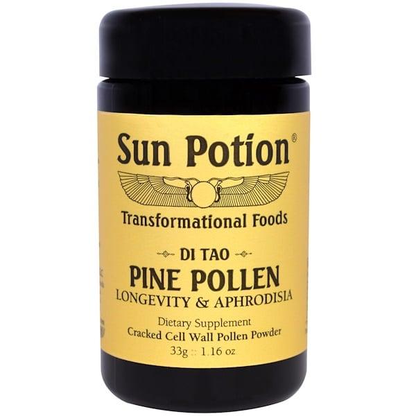 Sun Potion, حبوب اللقاح الصنوبر، وايلد كرافتد، 1.16 أوقية (33 جرام)