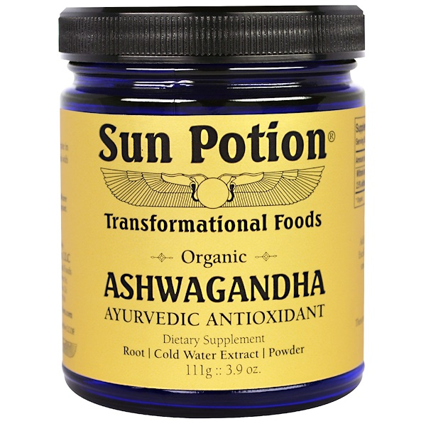Sun Potion, Ashwagandha Powder, Organic, 3.9 oz (111 g) (Discontinued Item)