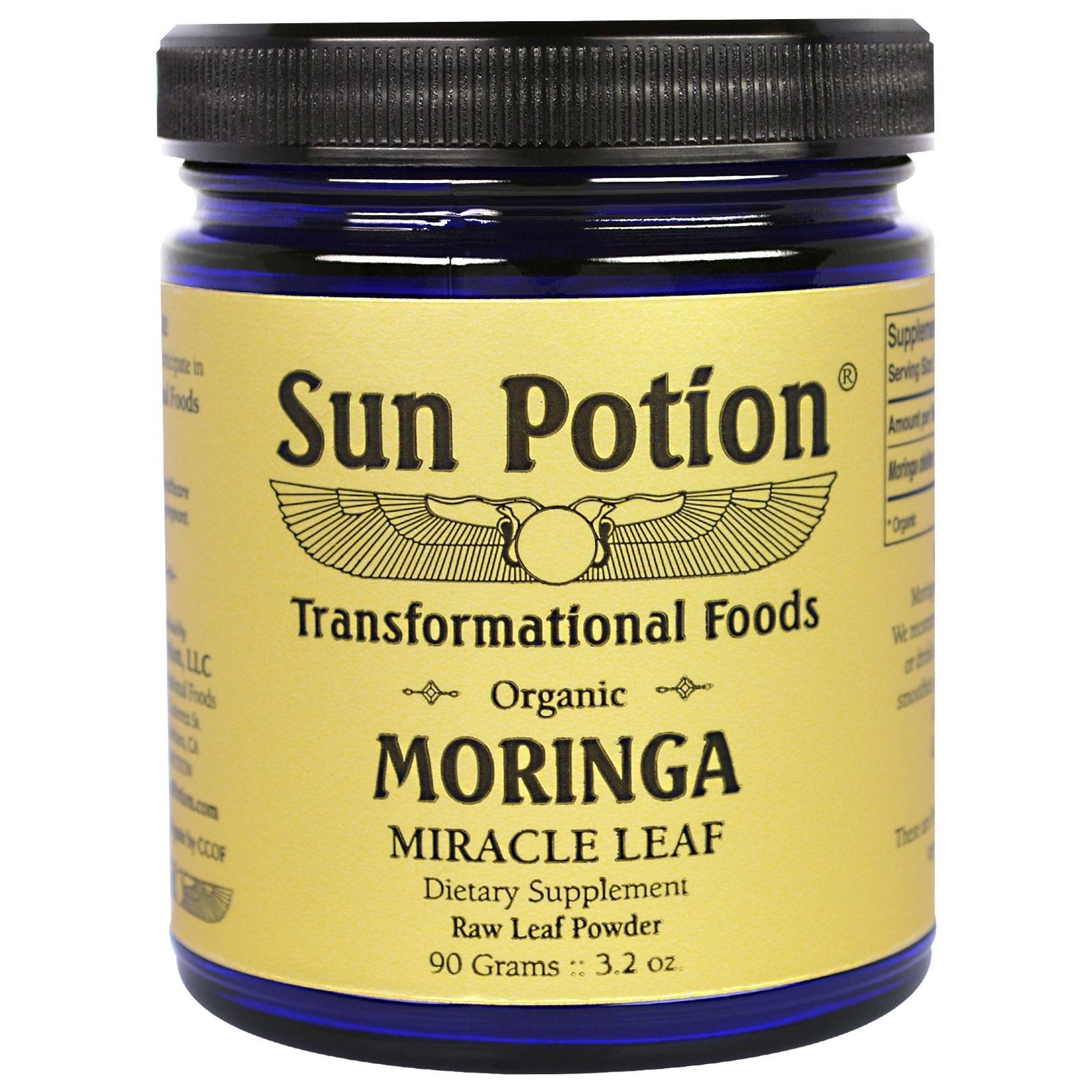Sun Potion, Порошок из Листа Моринги, Натуральный, 3,2 унции (90 г)