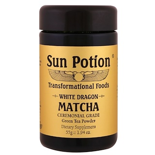Sun Potion, White Dragon Matcha, Polvo de té verde ceremonial, 1.94 oz (55 g)