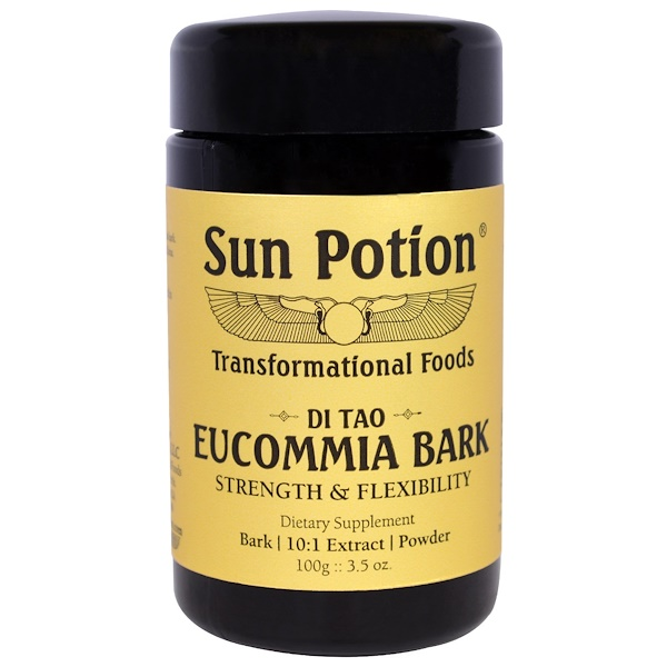 Sun Potion, Eucommia Bark Powder, Wildcrafted, 3.5 oz (100 g) (Discontinued Item)