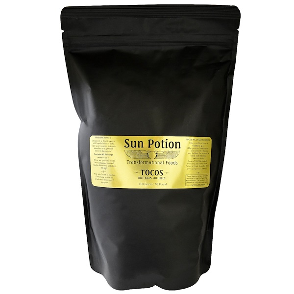 Sun Potion, Organic Tocos Rice Bran Solubles Powder, Large, 0.88 lb (400 g) (Discontinued Item)