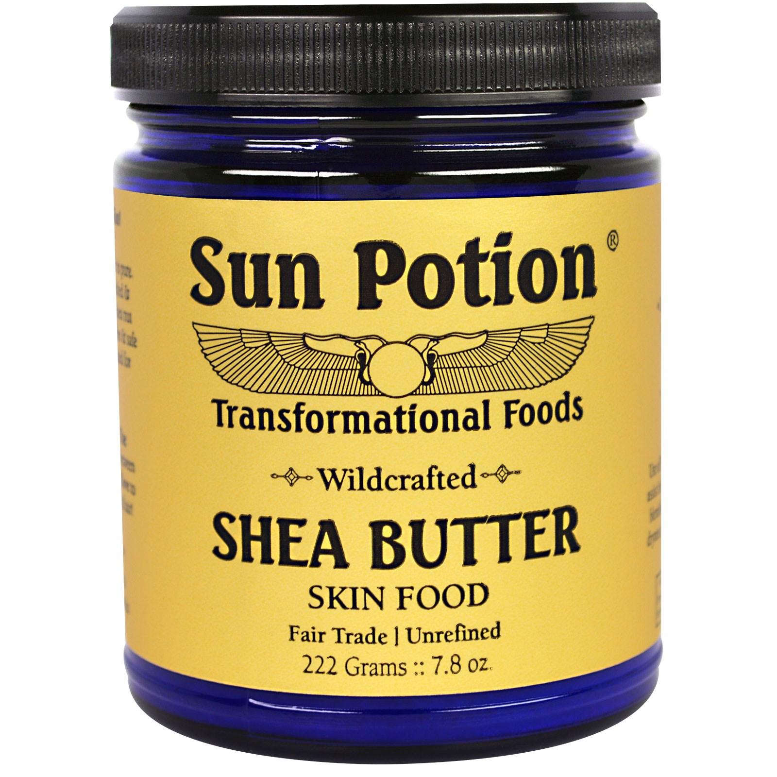 Sun Potion, Масло Ши, Обработанное  в Сыром Виде в Гане, 7,8 унций (222 г)