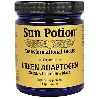 Sun Potion, Organic Green Adaptogen, Chlorella Maca Suma Blend, 3.9 oz (111 g)