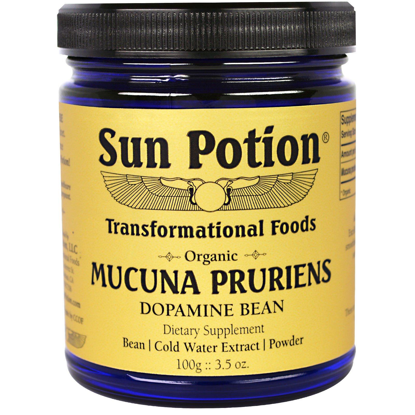 Sun Potion, Порошок Mucuna Pruriens, Органический,  3,5 унции (100 г)