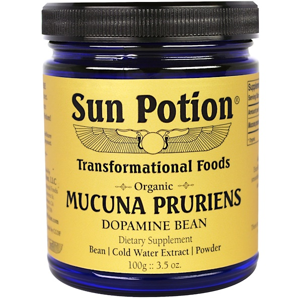 Sun Potion, Mucuna Pruriens Powder, Organic, 3.5 oz (100 g)