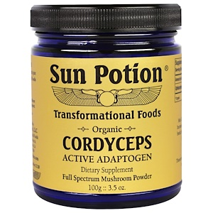 Сан Поушэн, Cordyceps Raw Mushroom Powder, Organic, 3.5 oz (100 g) отзывы