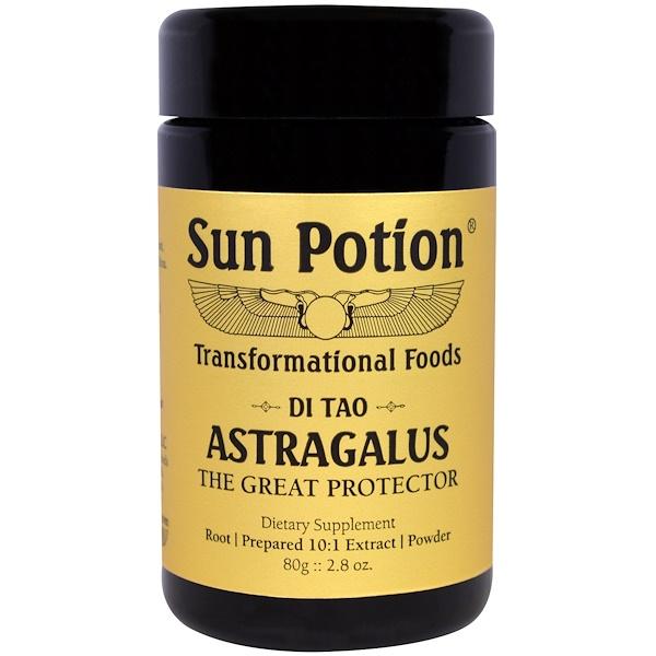 Sun Potion, Astragalus Powder, Wildcrafted, 2.8 oz (80 g)