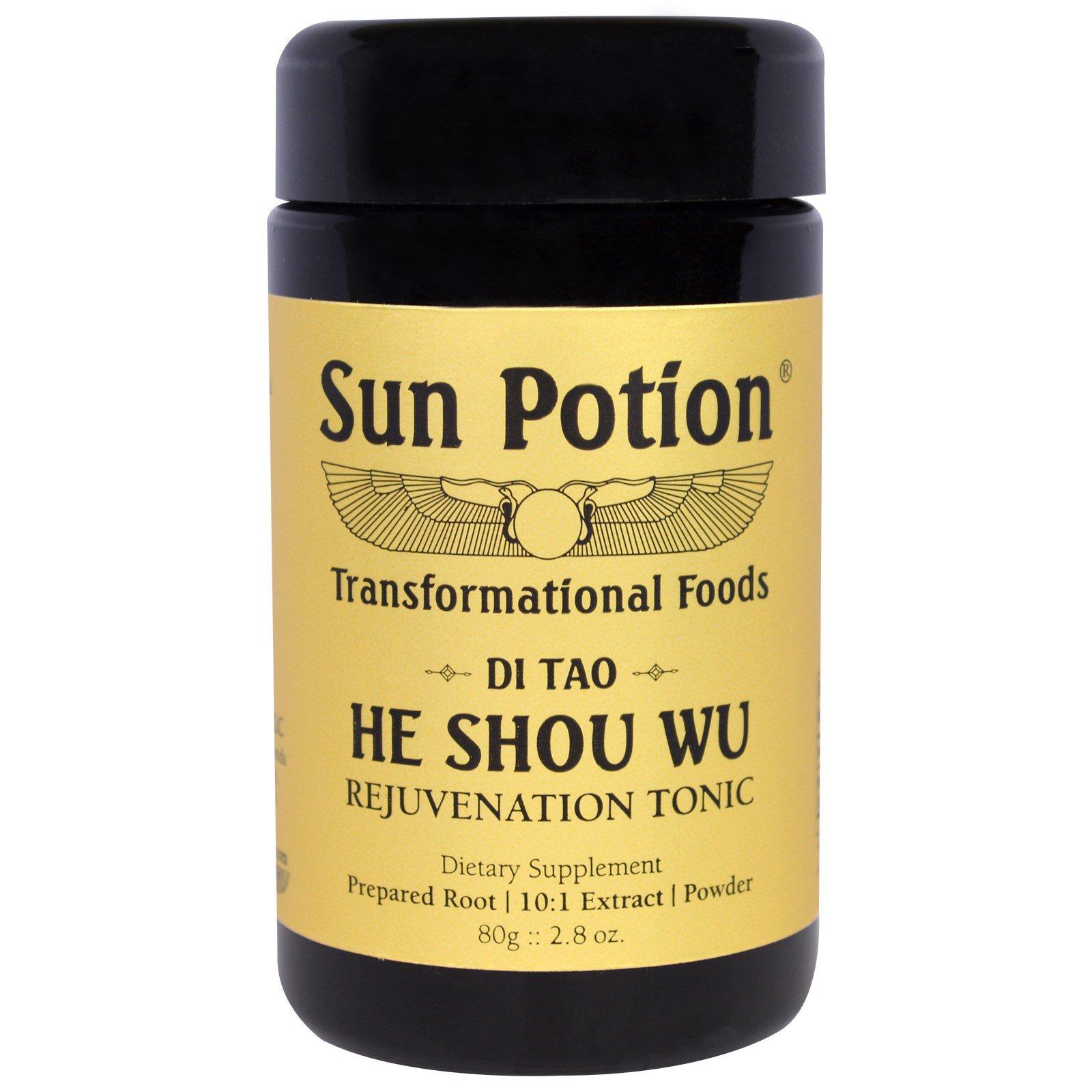 Sun Potion, Порошок He Shou Wu, Обработка в сыром виде, 2,8 унции (80 г)