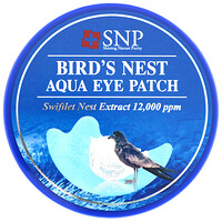 SNP, Bird's Nest Aqua Eye Patch, 60 parches