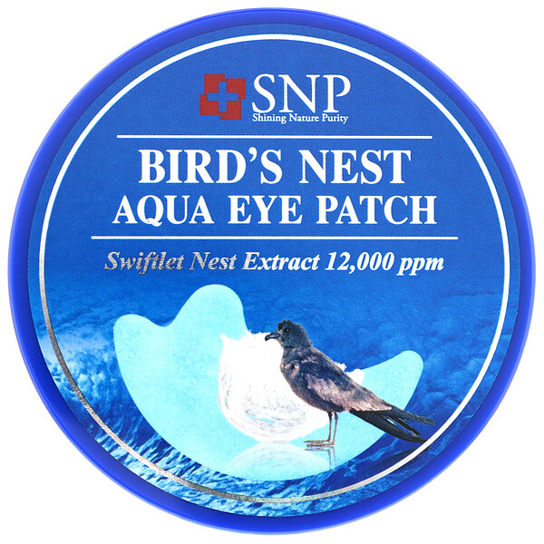 Bird's Nest Aqua Eye Patch, 60 parches
