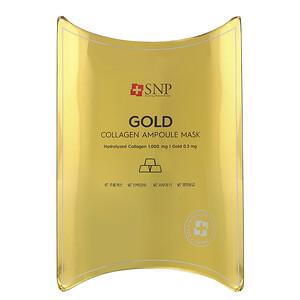 СНП, Gold Collagen Ampoule Mask, 10 Sheets, 0.84 fl oz (25 ml) Each отзывы