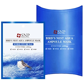 SNP, Bird's Nest Aqua Ampoule Mask, 1000 mg, 10 Packets, 25 ml Each