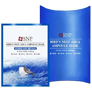 SNP, Bird's Nest Aqua Ampoule Mask, 1000 mg, 10 Packets