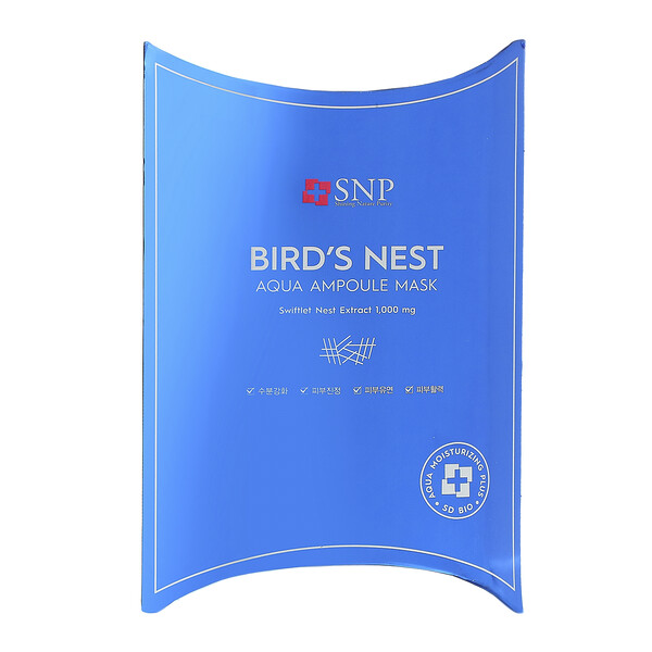 SNP, Bird's Nest Aqua Ampoule Mask, 10 Sheets, 0.84 fl oz (25 ml) Each