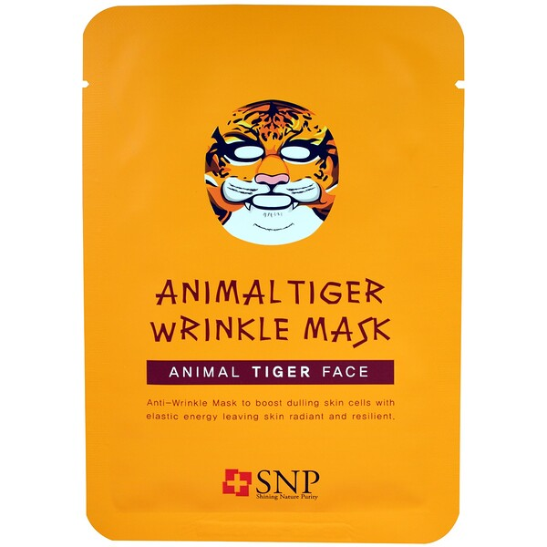 SNP, Animal Tiger Wrinkle Mask, 10 Masks x (25 ml) Each (Discontinued Item)