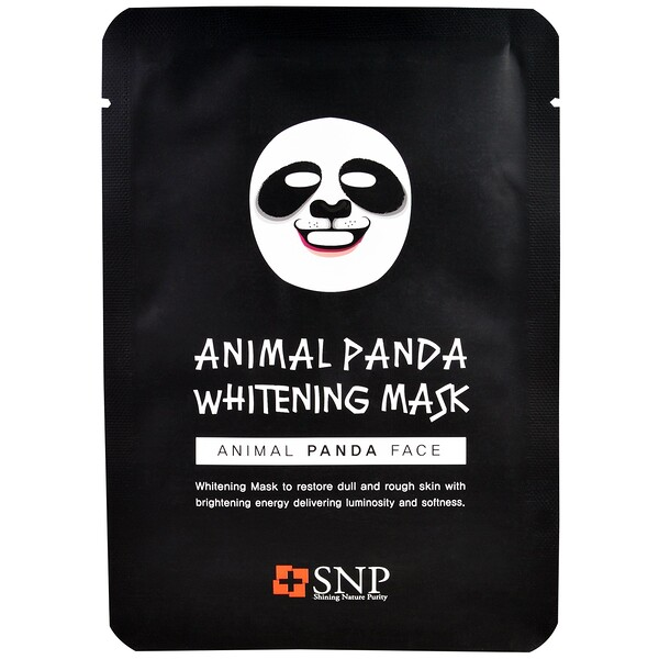 SNP, Animal Panda Whitening Mask, 10 Sheets x (25 ml) Each (Discontinued Item)