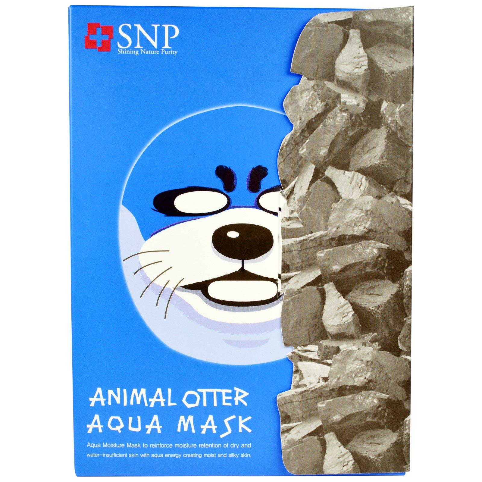 SNP, Аквамаска «Животное выдра», 10 масок по 25 мл каждая