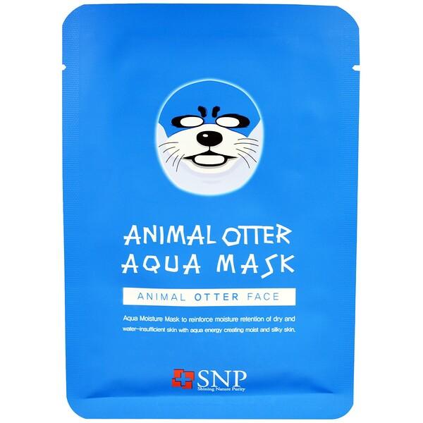 SNP, Animal Otter Aqua Mask, 10 Masks x (25 ml) Each (Discontinued Item)