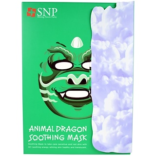 SNP, Animal Dragon Soothing Mask, 10 Masks x (25 ml) Each