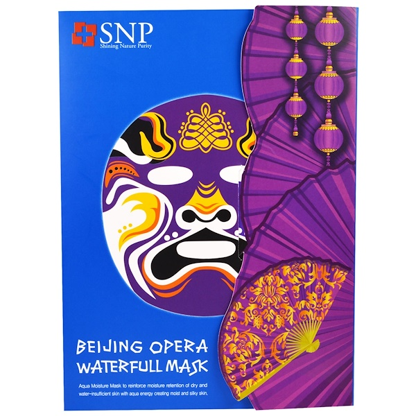 SNP, Beijing Opera Waterfull Mask, 10 Masks x (25 ml) Each (Discontinued Item)