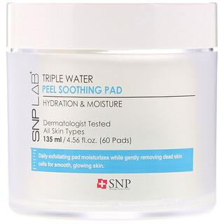 SNP, LAB+, Triple Water Peel Soothing Pad, 60 Pads