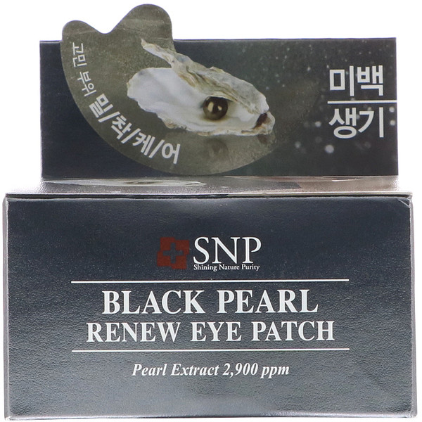 SNP, Black Pearl, Renew Eye Patch, 60 Patches