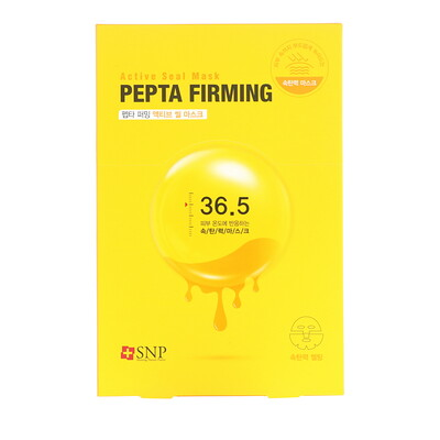 SNP Pepta Firming, Active Seal Mask, 5 Sheets, 1.11 fl oz (33 ml) Each  - Купить