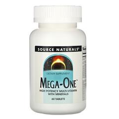 Source Naturals, Mega-One 優效複合維生素礦物營養片,60 片裝
