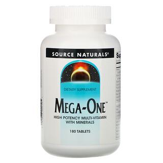 Source Naturals, Mega-One, высокоэффективный мультивитамин с минералами, 180 таблеток