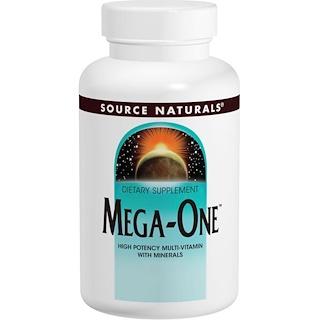 Source Naturals, メガワン、高力価マルチビタミン(ミネラル配合)、180錠